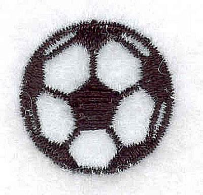 Embroidery Design: Soccerball 0.87w X 0.87h
