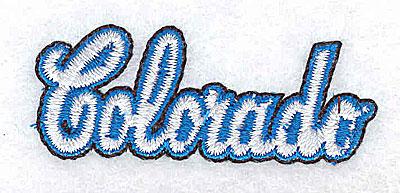Embroidery Design: Colorado 2.75w X 0.75h