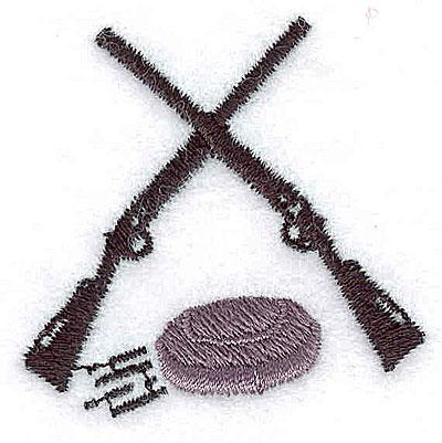Embroidery Design: Crossed rifles skeet 1.69w X 1.69h