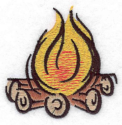 Embroidery Design: Campfire 2.44w X 2.44h