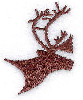 Embroidery Design: Deer head 1.25w X 1.69h