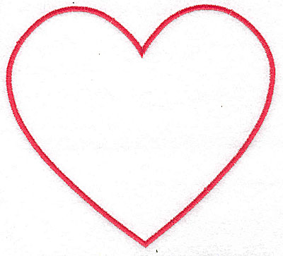 Embroidery Design: Heart outline 4.94w X 4.50h