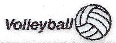 Embroidery Design: Volleyball 2.50w X 0.87h