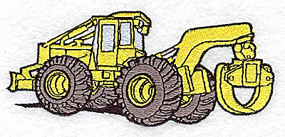 Embroidery Design: Construction Vehicle 4.18w X 1.81h