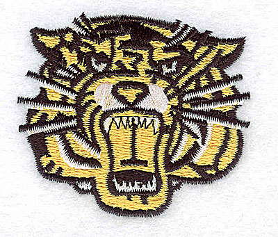 Embroidery Design: Tiger 2.25w X 1.94h