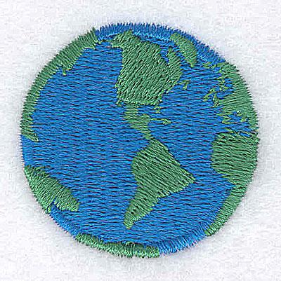 Embroidery Design: Globe 1.44w X 1.44h