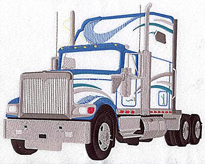 Embroidery Design: Truck semi 9.75w X 7.75h