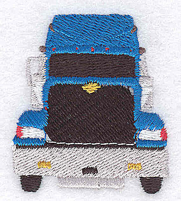 Embroidery Design: Truck front view 1.63w X 1.94h