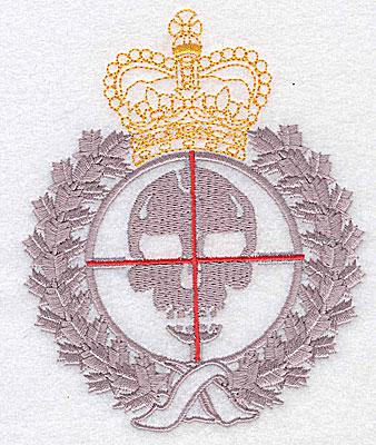 Embroidery Design: Skull logo 3.87w X 4.75h