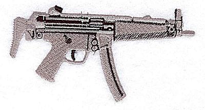 Embroidery Design: Machine gun 4.13w X 2.13h