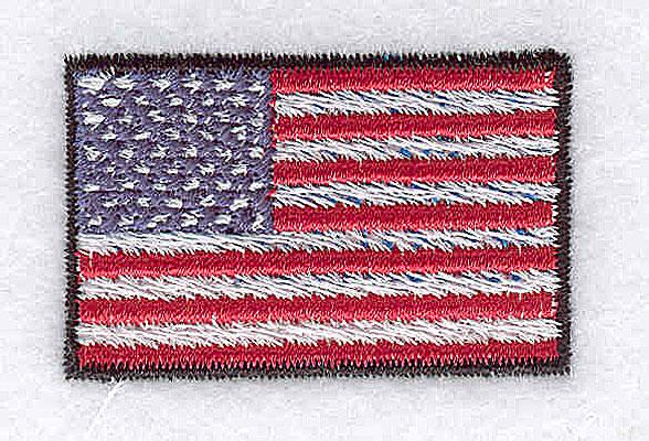Embroidery Design: U.S. flag 1.50w X 1.94h