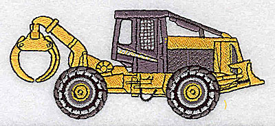 Embroidery Design: Backhoe loader 4.00w X 1.69h