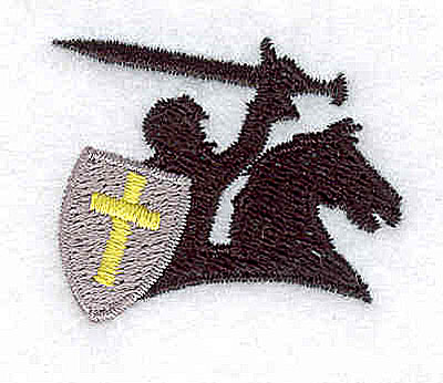 Embroidery Design: Knight on steed 1.50w X 1.25h