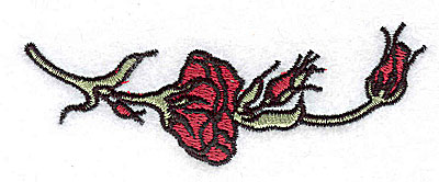 Embroidery Design: Rose 3.69w X 1.31h