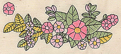 Embroidery Design: Flowers 5.44w X 2.25h