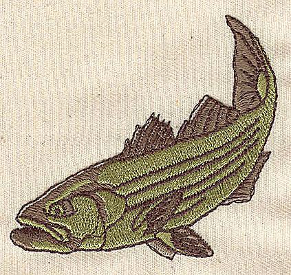 Embroidery Design: Fish 3.50w X 2.31h