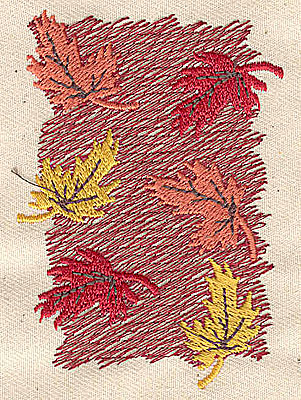 Embroidery Design: Maple Leaves  2.01w X 3.06h