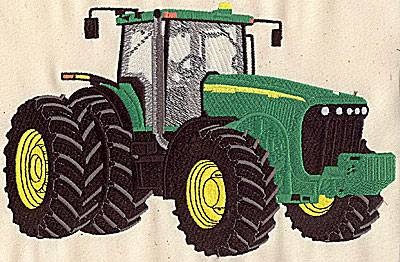 Embroidery Design: Tractor 6.94w X 5.75h