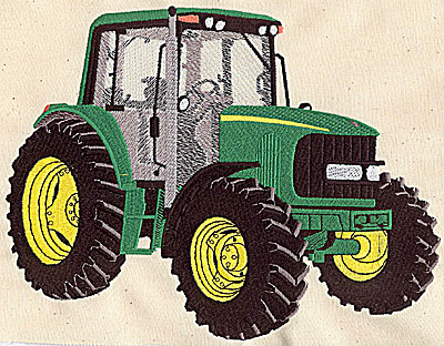 Embroidery Design: Tractor 8.94w X 6.75h