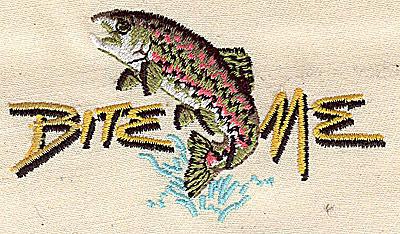 Embroidery Design: Fish Bite Me 3.50w X 2.94h