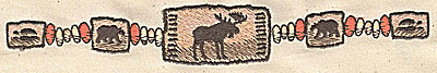 Embroidery Design: Moose and bear row 7.48w X 1.00h