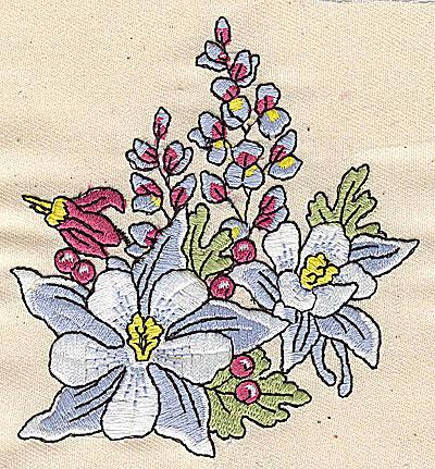 Embroidery Design: Floral Bouquet 3.50w X 3.81h