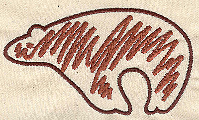 Embroidery Design: Bear stylized 3.94w X 2.25h