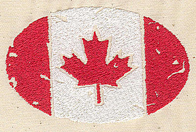 Embroidery Design: Canadian flag stylized 3.75w X 2.38h