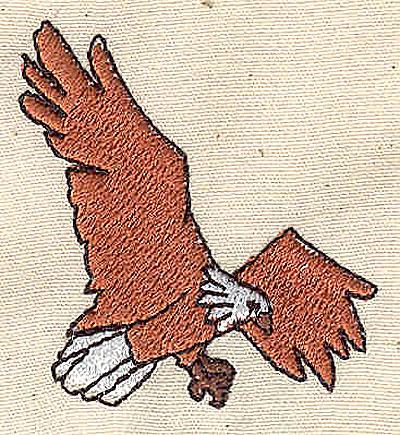 Embroidery Design: Eagle in flight 1.56w X 1.75h