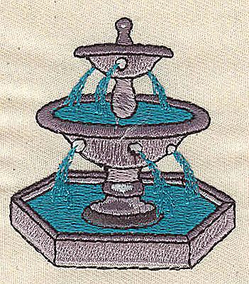 Embroidery Design: Fountain 2.00w X 2.25h