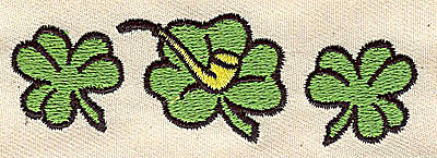 Embroidery Design: Shamrocks and pipe 3.25w X 1.00h