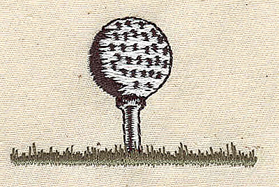 Embroidery Design: Golf ball and tee 2.13w X 1.31h