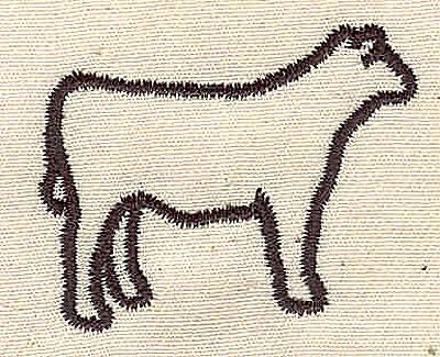 Embroidery Design: Calf 1.06w X 1.38h