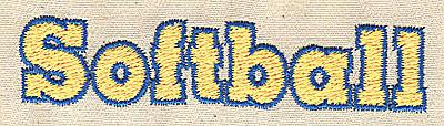 Embroidery Design: Softball 3.06w X 0.69h