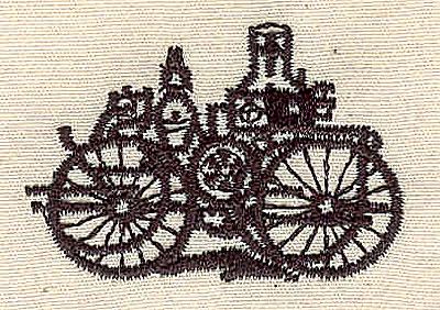 Embroidery Design: Steam engine vintage 1.69w X 1.48h