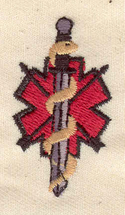 Embroidery Design: Medical symbol 1.00w X 1.75h