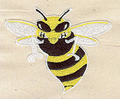 Embroidery Design: Bee 3.06w X 2.44h