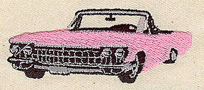 Embroidery Design: Pink convertible 2.88w X 1.12h