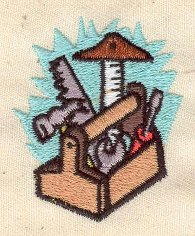 Embroidery Design: Tool box 1.63w X 1.88h