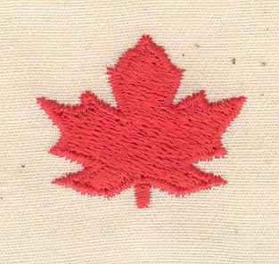 Embroidery Design: Maple leaf 1.12w X 0.94h