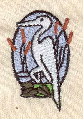 Embroidery Design: Heron 1.48w X 1.81h