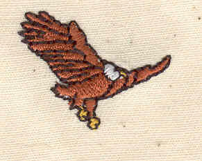 Embroidery Design: Eagle   1.06w X 0.81h