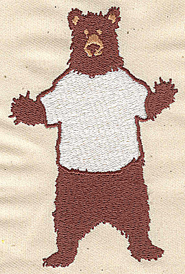 Embroidery Design: Bear cartoon 2.63w X 3.94h