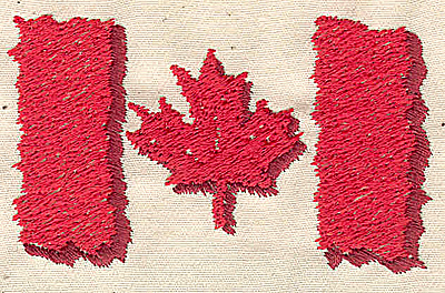 Embroidery Design: Canadian Flag 3.00w X 1.75h