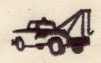 Embroidery Design: Tow truck 1.44w X 0.81h