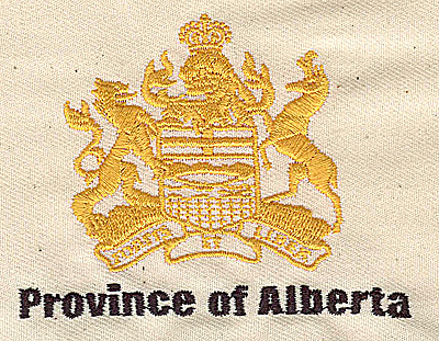 Embroidery Design: Province of Alberta 3.48w X 2.44h