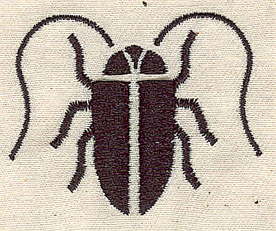 Embroidery Design: Scarab 2.00w X 2.47h
