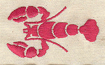 Embroidery Design: Lobster 2.06w X 1.13h