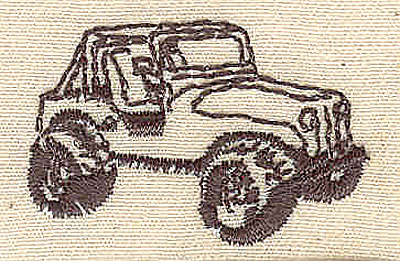 Embroidery Design: Army vehicle  1.50w X 1.00h