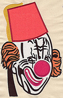 Embroidery Design: Clown face 6.44w X 9.88h